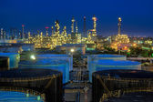 Landscape of oil refinery industry — Stock Photo