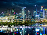 Landscape of the Singapore financial district — Stock Photo