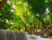 First levelof Erawan Waterfall — Stock Photo