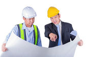 Asian engineer and worker leader — Stock Photo