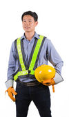 Portrait of smiling asia worker — Stock Photo