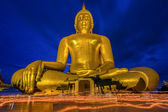 Candlelight Makha Bucha Day at Wat Muang — Stock Photo