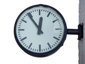 Clock for train or bus station — Stock Photo