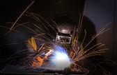Worker welding  — Stock Photo