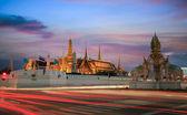 Grand palace at twilight in Bangkok, Thailand — Stock Photo