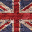 UK flag on brick background — Stock Photo