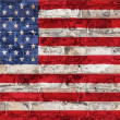 Usa flag on brick wall — Stock Photo