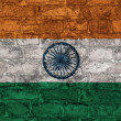 Indian flag on brick wall — Stock Photo