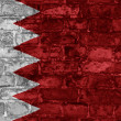 Bahrain flag on wall — Stock Photo