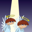 Angelic choir boys — Foto Stock