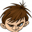 Angry Kid — Foto de Stock