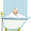 Bath time for baby — Stock Photo