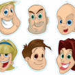 Smiling Faces Fridge Magnet, Stickers — Stock Photo