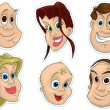 Smiling Faces Fridge Magnet, Stickers — Stockfoto #30087057