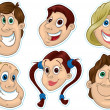 Smiling Faces Fridge Magnet, Stickers — Stock Photo #30087063