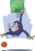 Monkey playing Basketball — Stock Photo