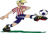 Boy playing football — Stock Photo