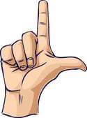 Looser hand gesture — Stock Photo