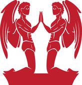 Gemini znamení zvěrokruhu — Stock fotografie