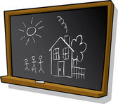 Child's chalkboard — Stock Photo