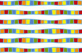Color band patterns — Stock Photo