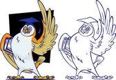 Knowledgeable Owl teacher — Stock Photo