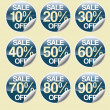Sale buttons with discount — Stock Photo