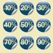 Sale buttons with discount — Stock Photo #30144751