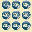 Sale buttons with discount — Stock Photo #30145091