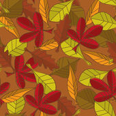 Autumn leaves pattern — Stock Photo