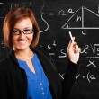Math teacher portrait - Stock fotografie