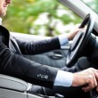 Man driving his car — Stock Photo #22618311