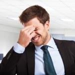 Worried businessman — Stock Photo