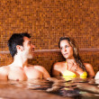 Couple doing a bath in a spa — Stock Photo