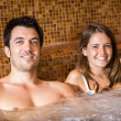 Stock Photo: Couple doing a whirlpool bath in a spa