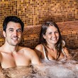 Couple doing a whirlpool bath — Stock Photo