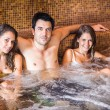 Friends relaxing in a spa — ストック写真
