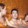 Friends relaxing in a spa — Stock Photo