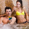 Young couple relaxing in a spa — Stock Photo #22619975