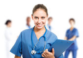 Beautiful nurse portrait — Stockfoto