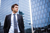 Handsome businessman portrait — Stok fotoğraf