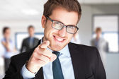 Businessman pointing his finger at you — Stock Photo