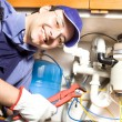 Plumber at work — Stock Photo
