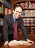 Zakenman in zijn kantoor — Stockfoto
