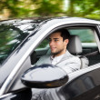 Man driving a car - Foto Stock