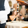 Dinner in a luxury restaurant — Stock Photo #22873620