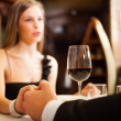 Dinner at the restaurant — Stock Photo #22873628