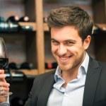 rött vin — Stockfoto