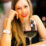 middag på en restaurang — Stockfoto