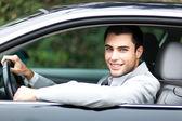 Araç sürücüsü — Stok fotoğraf